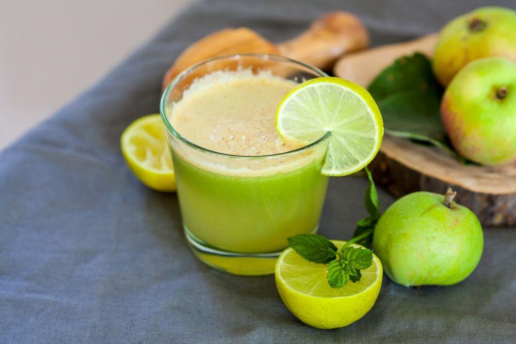 Drinks Juice Lemons Apples Highball glass alcohol wallpaper