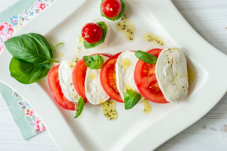 salad snack food caprese wallpaper