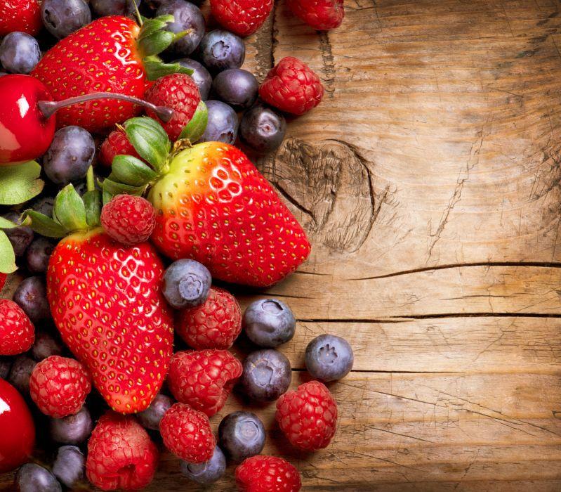 raspberry food fruit berries strawberries wallpaper