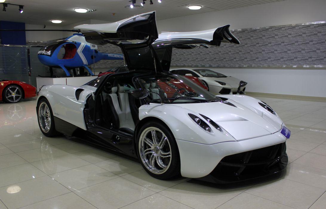 cars Huayra Italia Pagani supercars white blanc blanco wallpaper
