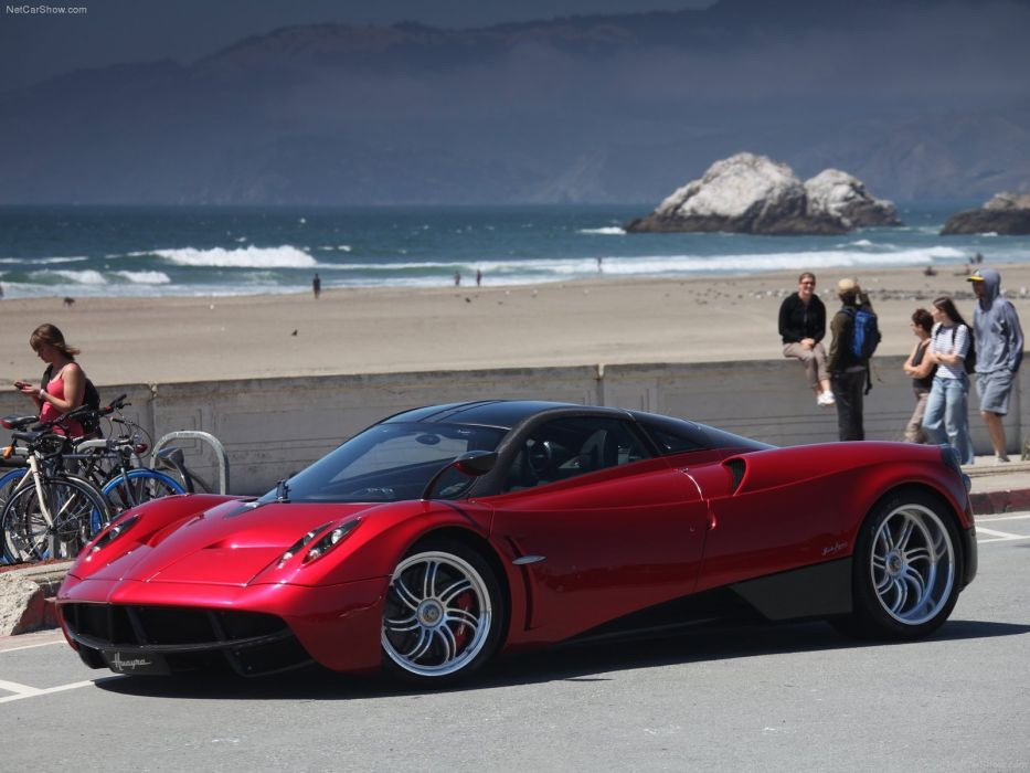 cars Huayra Italia Pagani supercars red rouge rosso wallpaper