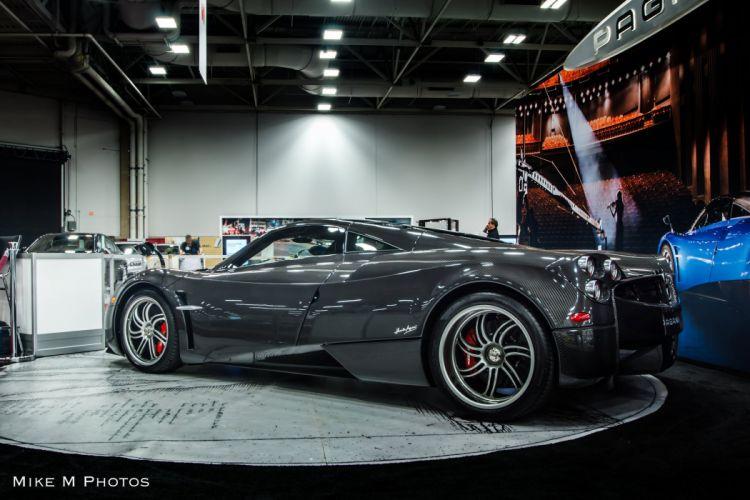 cars Huayra Italia Pagani supercars black carbon carbone wallpaper
