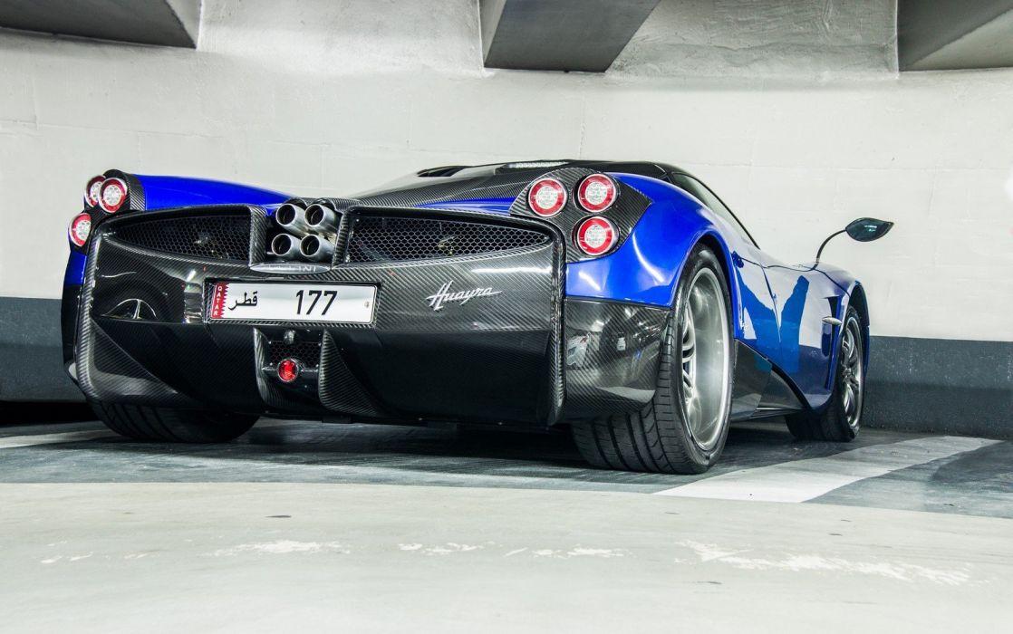 cars Huayra Italia Pagani supercars blue bleu blu wallpaper