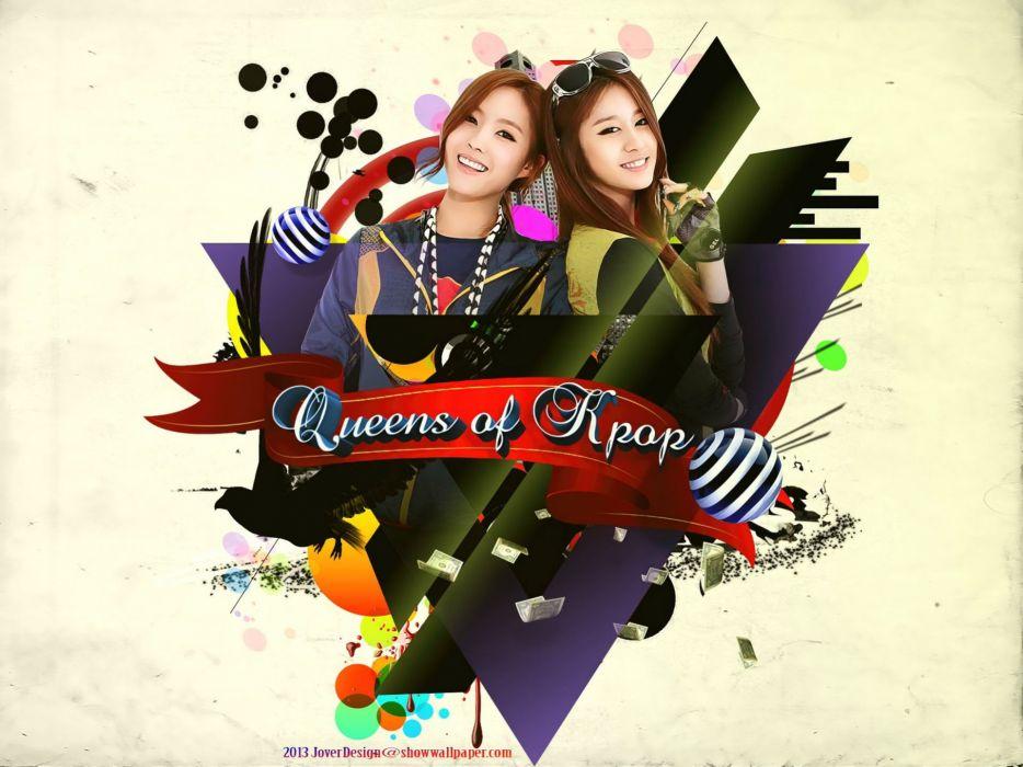 T Ara Kpop K Pop Electropop R B Tara Tiara Wallpaper