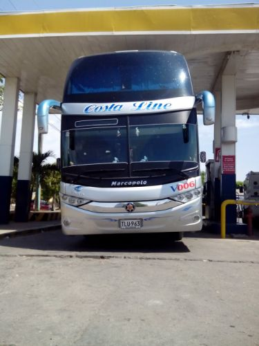 Cootracegua Costa Line V-006 Marcopolo Paradiso G7 1800DD Volvo B-430R I-Shift 6X2 Double Decker Bus wallpaper