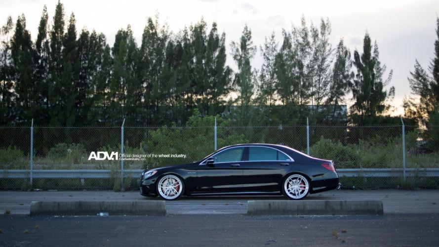 amg black cars Mercedes ADV1 s63 Tuning wheels wallpaper