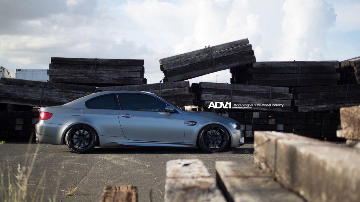 BMW cars M3 e-92 adv1 wheels tuning wallpaper