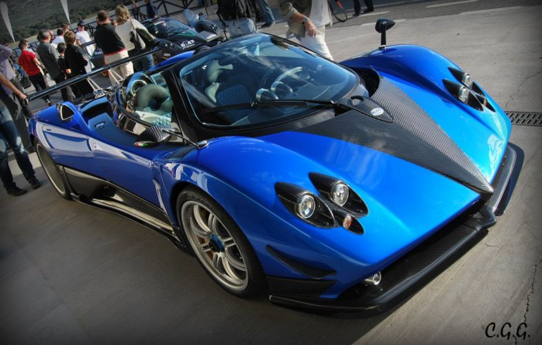 cars Exotic Pagani Supercar vehicles zonda blue bleu blu wallpaper