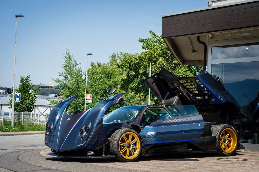cars Exotic Pagani Supercar vehicles zonda blue bleu blu wallpaper