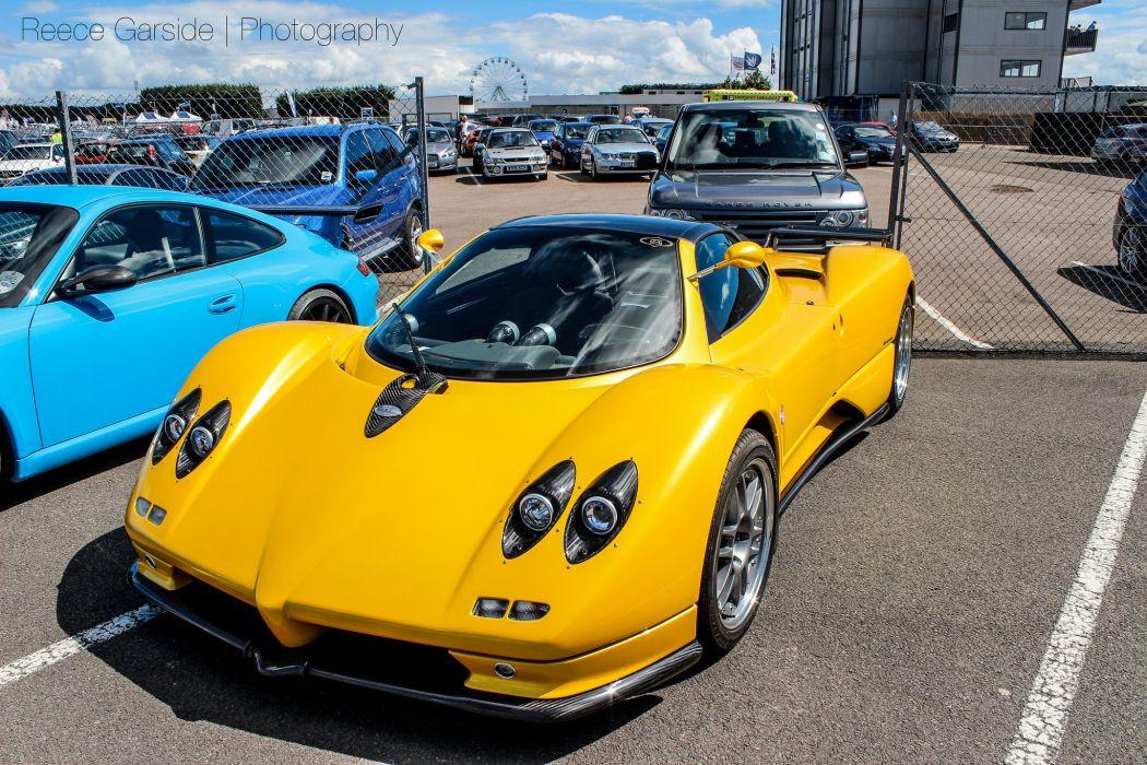 jaune yellow giallo cars Exotic Pagani Supercar vehicles Zonda wallpaper
