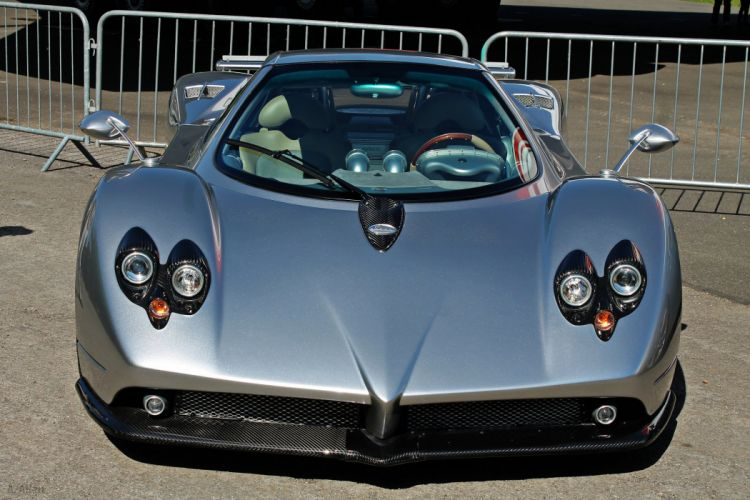 cars Exotic Pagani Supercar vehicles Zonda gris grey grigio wallpaper