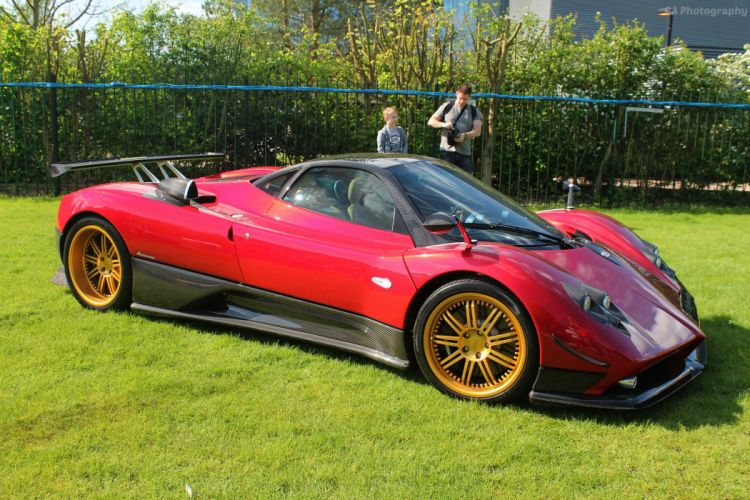 cars Exotic Pagani Supercar vehicles Zonda rouge red rosso wallpaper