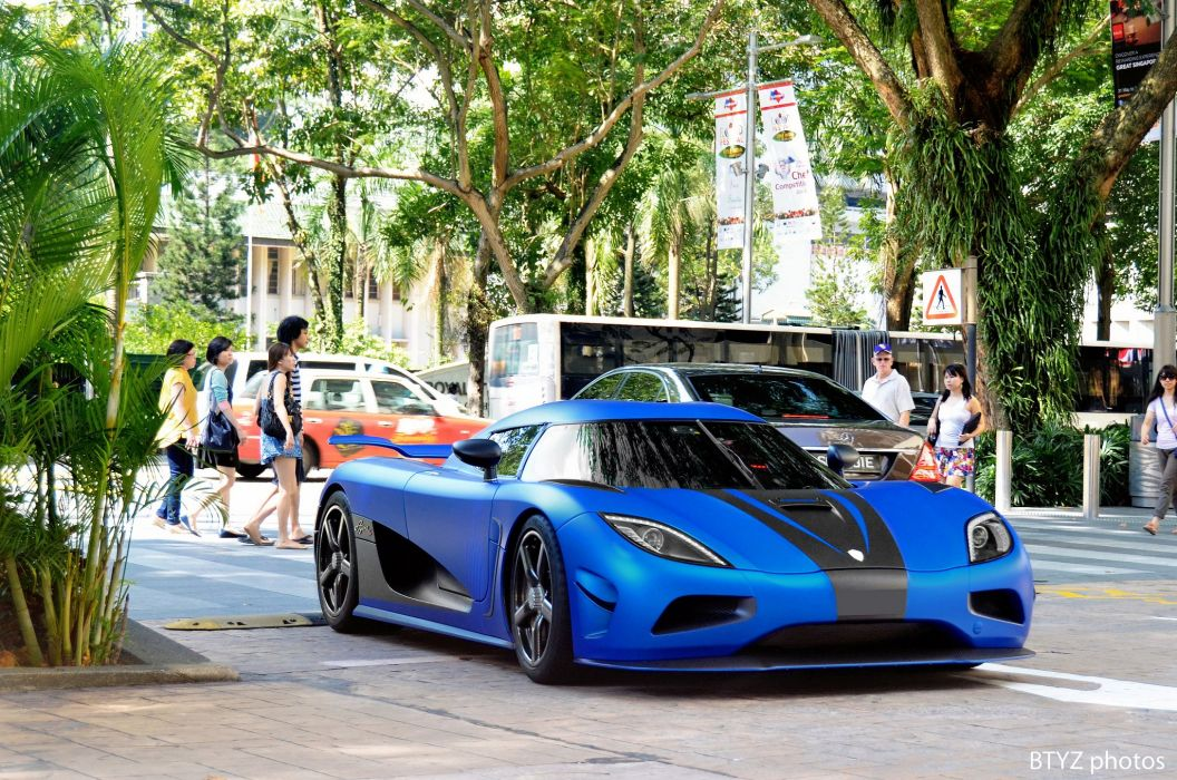 agera Koenigsegg Supercar supercars bleu blue wallpaper