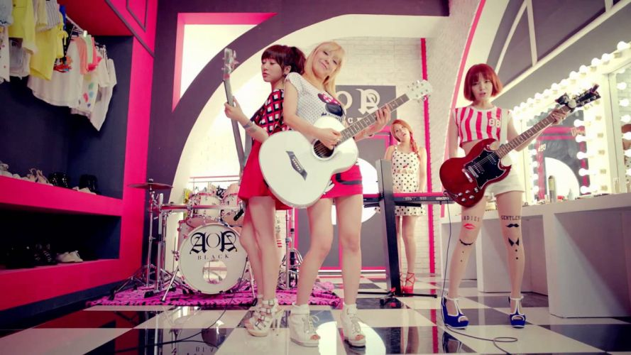 AOA rock pop dance r-b kpop k-pop electropop guitar wallpaper