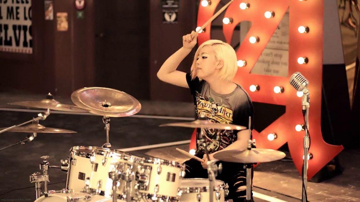 AOA rock pop dance r-b kpop k-pop electropop drums concert wallpaper