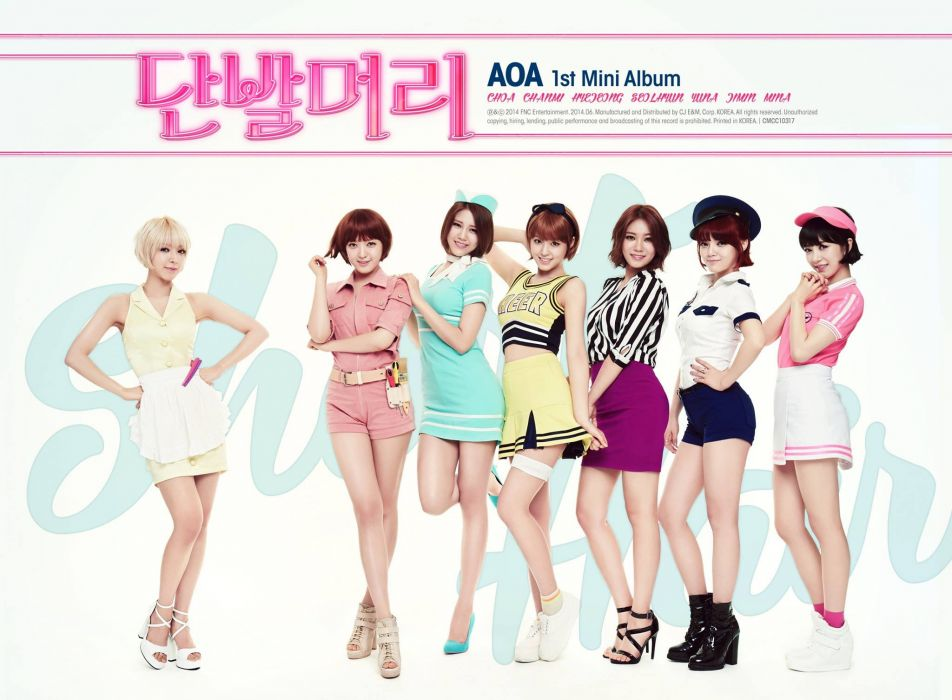 AOA rock pop dance r-b kpop k-pop electropop guitar wallpaper