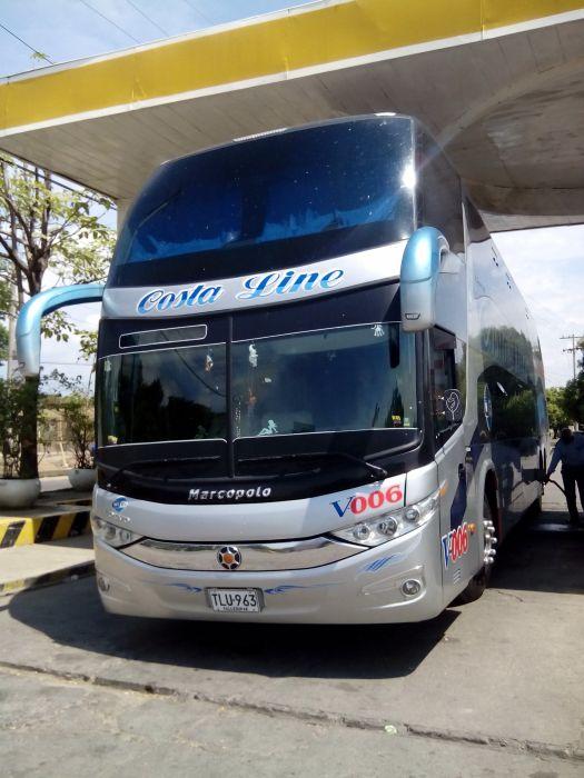 Double Decker Bus Carroceria: Marcopolo Paradiso G7 1800DD Chasis: Volvo B430R I-Shift 6X2 Empresa: Costa Line V-006 Valledupar Colombia wallpaper