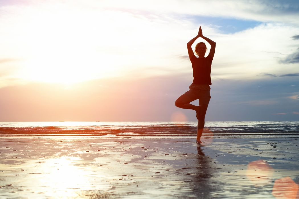 YOGA fitness babe sexy mood wallpaper