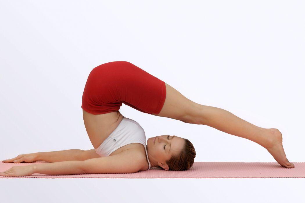 YOGA fitness babe sexy mood wallpaper