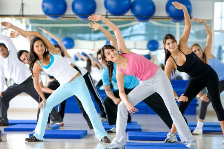 AEROBICS fitness sexy babe dance wallpaper