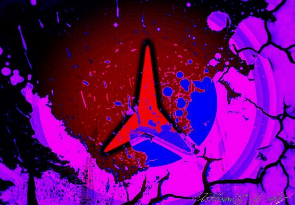 splatter logo dreieck blood red selfmade wallpaper