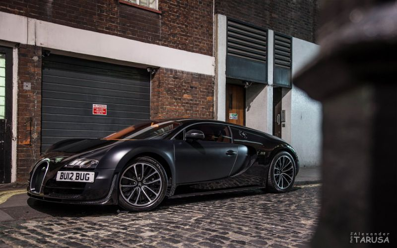 Bugatti Supercar Veyron black noir nero wallpaper