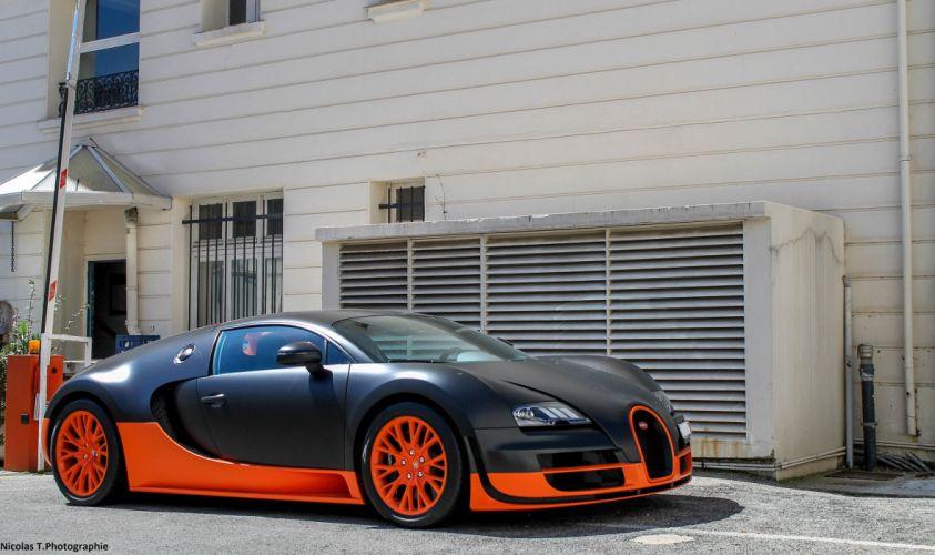 Bugatti Supercar Veyron black noir nero wallpaper