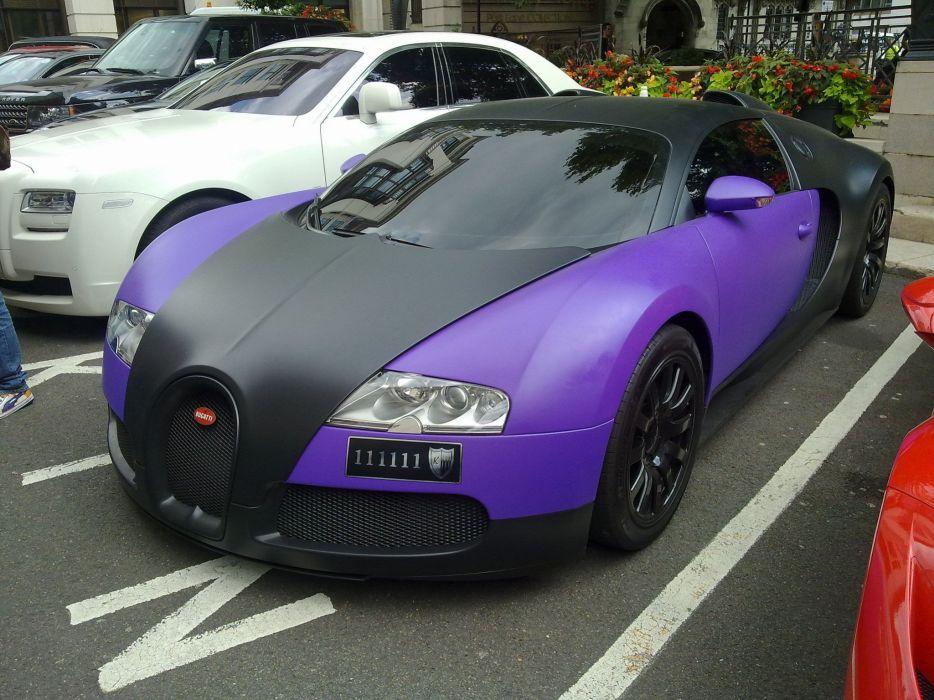 Bugatti Exotic supercars Veyron Vinyl wrap matt wallpaper