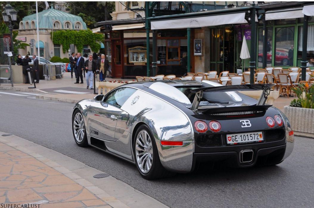 Bugatti Exotic matt supercars Veyron Vinyl wrap chrome wallpaper