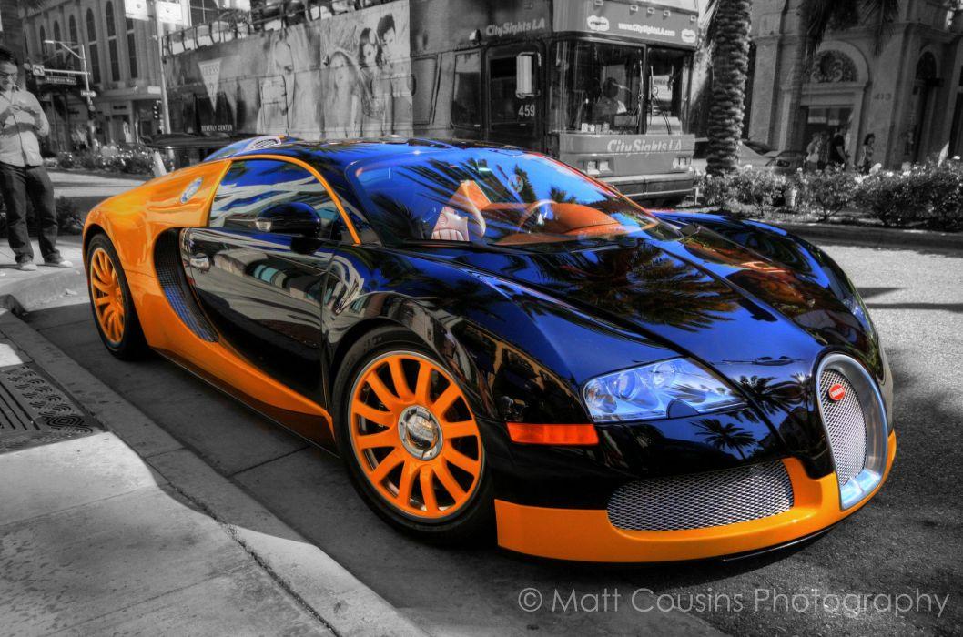 Bugatti Exotic supercars Veyron orange wallpaper