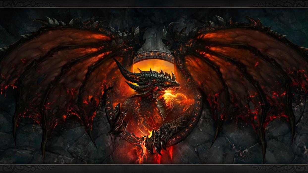 Dragon Fire red alas dragon de fuego eyes Fantasy Art wallpaper