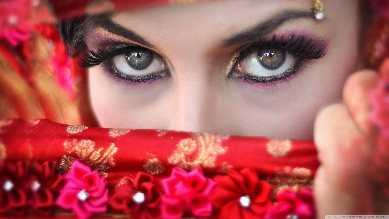 Eyes brown arabic chica cara face beautifull wallpaper
