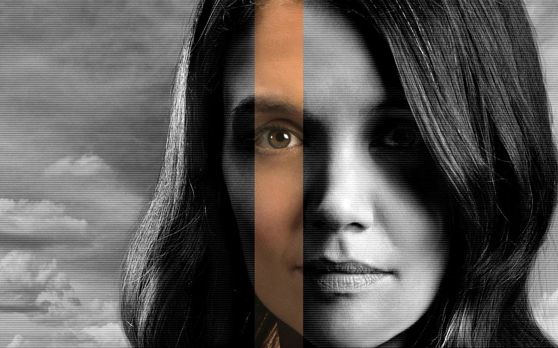 katie holmes selective coloring actress psychedelic wallpaper