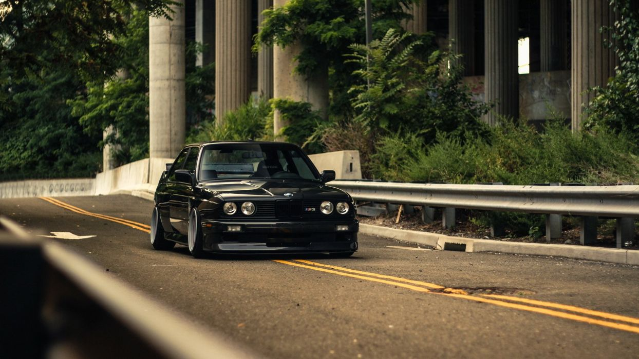 M 3 Black Bmw Coupe E30 Tuning Wallpaper 1920x1080 433473 Wallpaperup