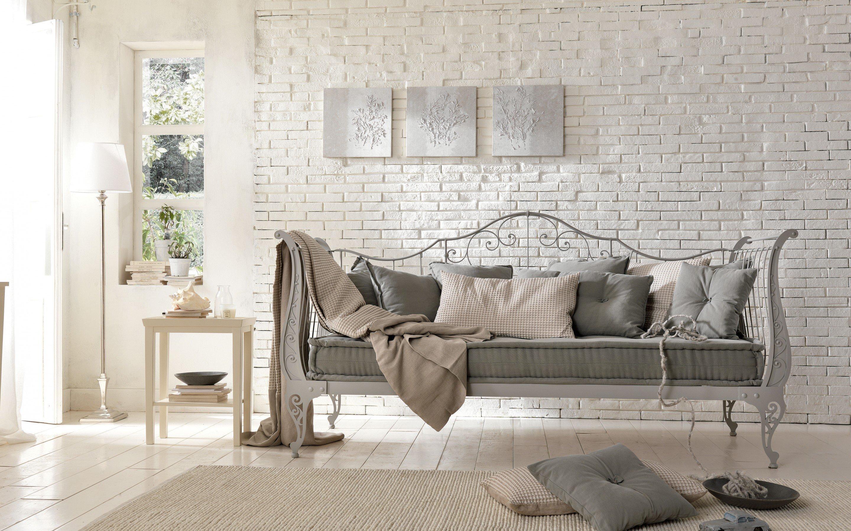 interior country brick sofa forging design room wallpaper