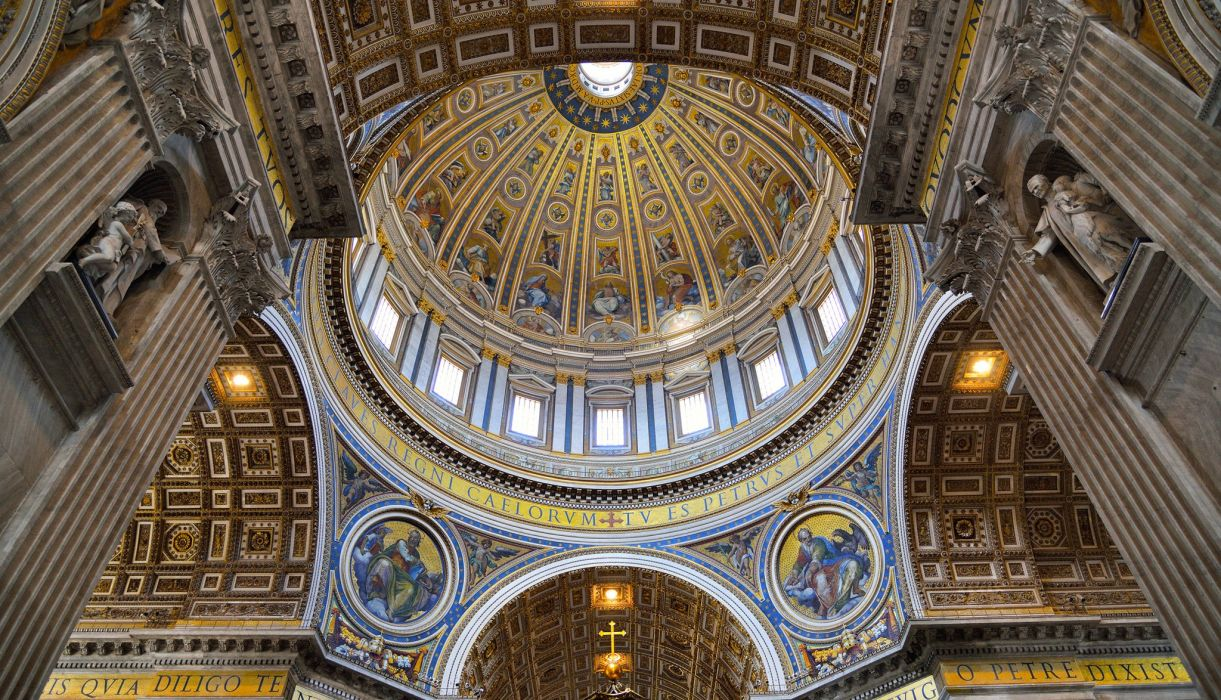Vatican city St Peter Cathedral the dome frescoes religion church wallpaper