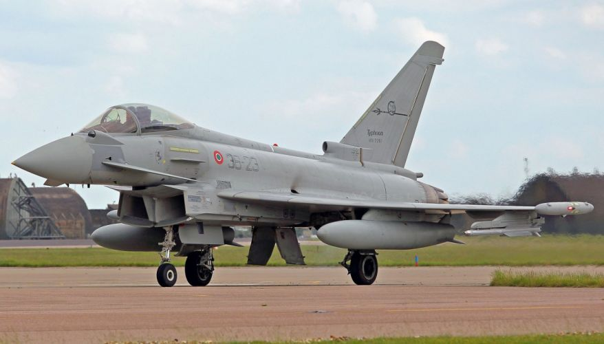 aircraft airplanes eurofighter german typhoon military jet army sky wallpaper