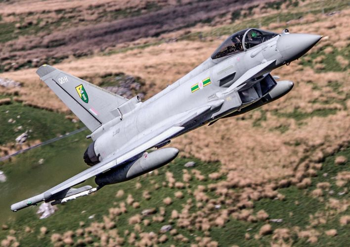 aircraft airplanes army eurofighter german jet Military sky typhoon wallpaper