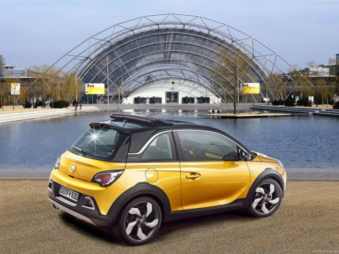2015 adam cars opel rocks yellow jaune giallo wallpaper