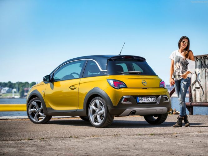 2015 adam cars opel rocks yellow jaune giallo wallpaper