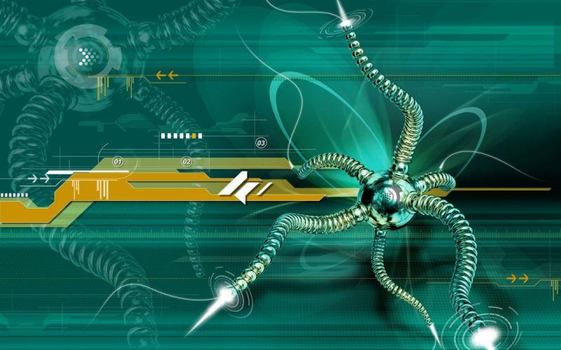 OCTOPUS sealife underwater ocean sea art artwork robot cyborg sci-fi wallpaper