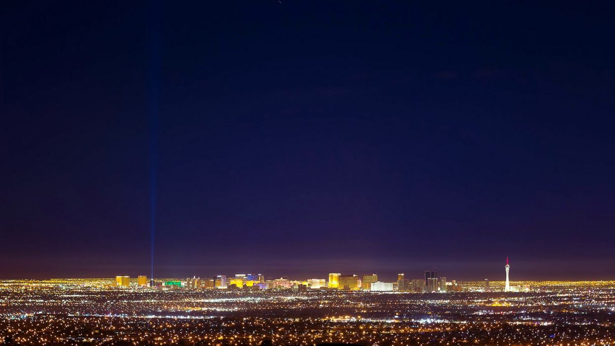 Casino Cities Deserts Dollars Las Nevada Tower Usa Vegas Night