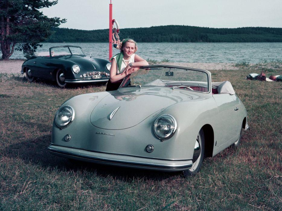 1952-55 Porsche 356 1500 Cabriolet retro convertible f wallpaper