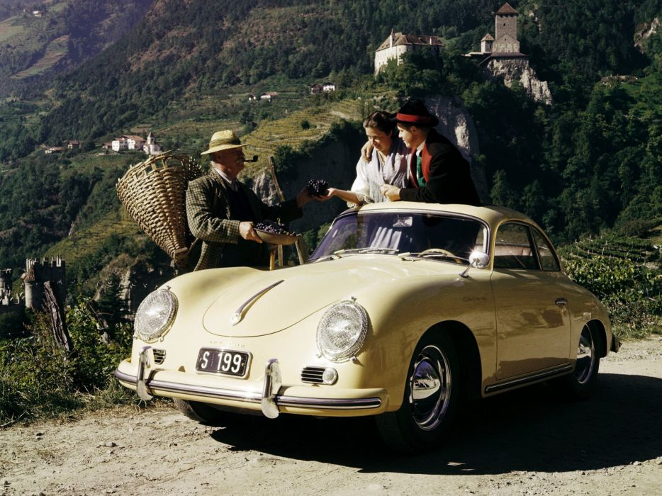 1955 Porsche 356A Carrera Coupe t-1 retro f wallpaper
