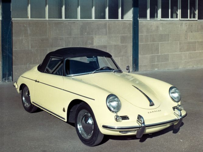 1959 Porsche 356B 1600 Roadster Drauz retro f wallpaper