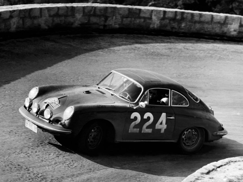1963 Porsche 356C Carrera 2 Coupe classic race racing g wallpaper