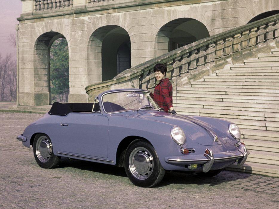 1963-65 Porsche 356C 1600 Cabriolet classic f wallpaper