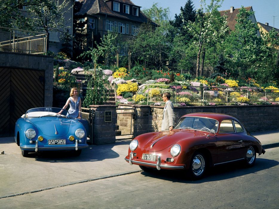 Porsche 356 Speedster 356A Coupe retro wallpaper