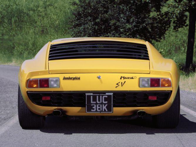 1971 Lamborghini Miura P400 S-V UK-spec supercar classic g wallpaper
