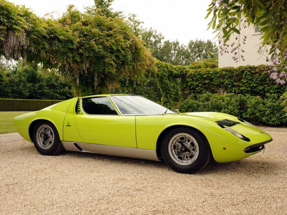 1970 Lamborghini Miura P400 S UK-spec supercar p400s classic d wallpaper